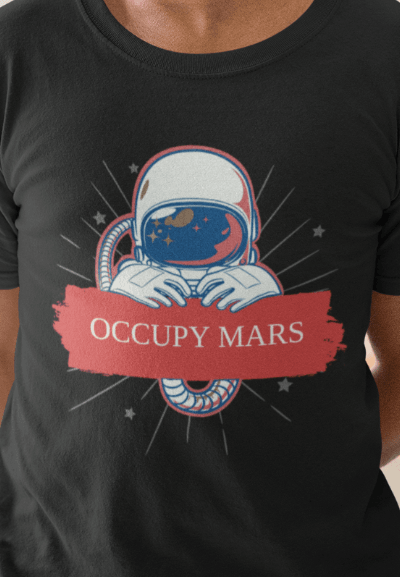 occupy mars funny t-shirt