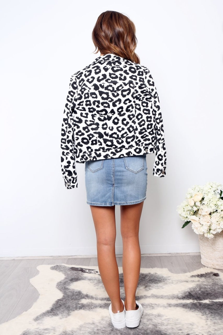 Miranda Black and White Leopard Jacket