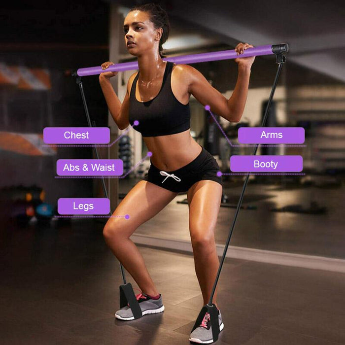 Home Workout Toning Bar With Resistance Bands