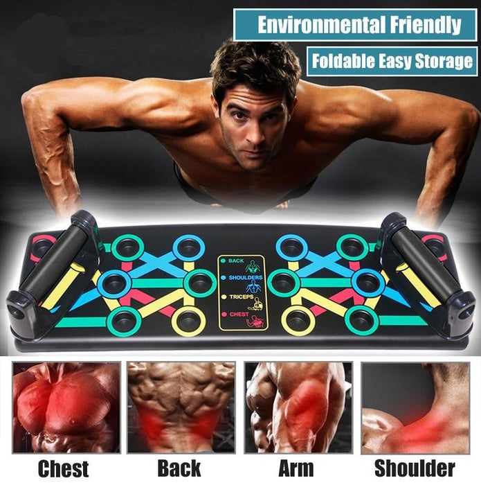 9 in 1 Push Up Board Upper Body Home Workout Station