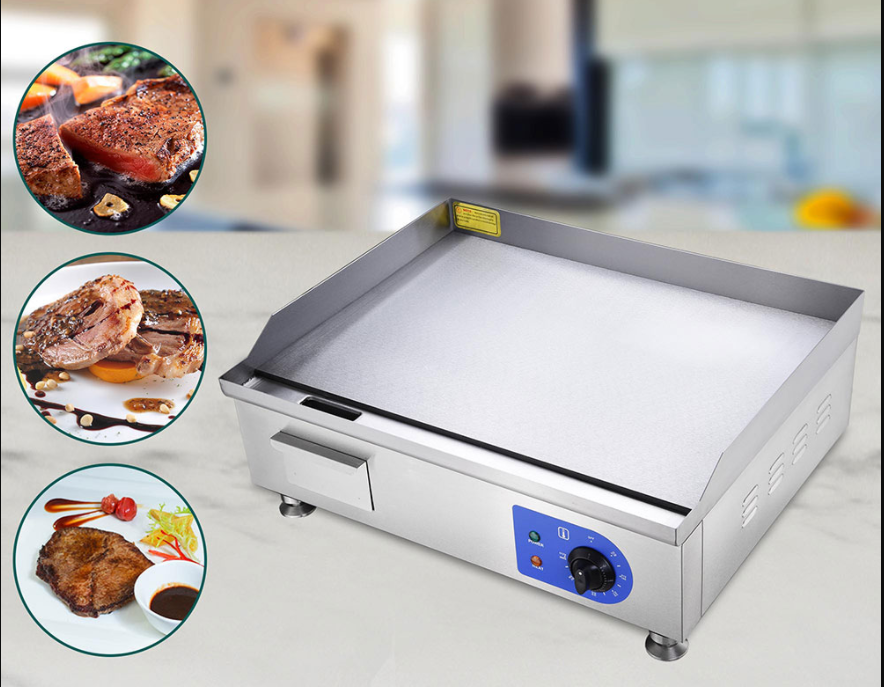 Electric Countertop Griddle Flat Grill 24in 2500W