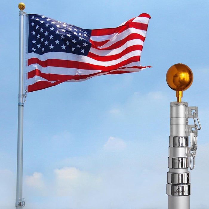 Giant 20' American Telescoping Flagpole Set
