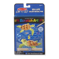 Melissa and Doug - On the Go - Scratch Art / Sea Life