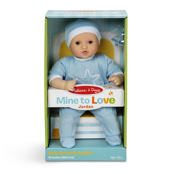 "Melissa and Doug - Mine to Love- Jordon 12"" Doll"