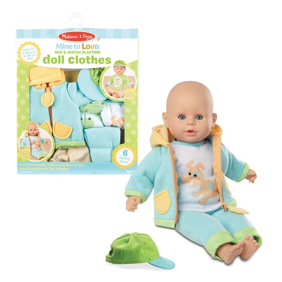 Melissa & Doug- Mix & Match Playtime Doll Clothes
