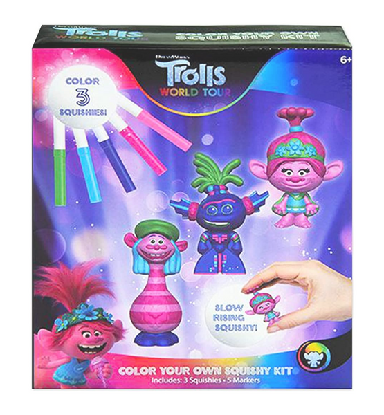 Trolls - World Tour - Color Your Own Squishy Kit