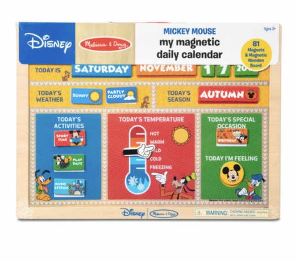 Melissa and Doug - Disney - Mickey Mouse Magnetic Daily Calender