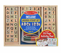 Melissa and Doug - Delux Wooden Stamp Set ABC' s & 123's