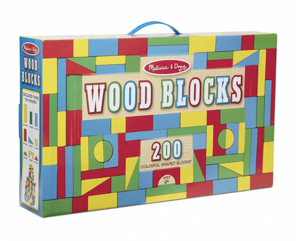 Melissa and Doug - 200 Wooden Blocks Set