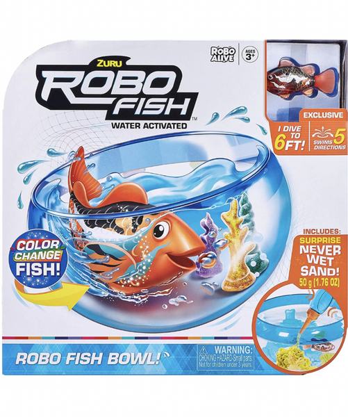Zuru - Robo Alive - Robo Fish Bowl - Orange