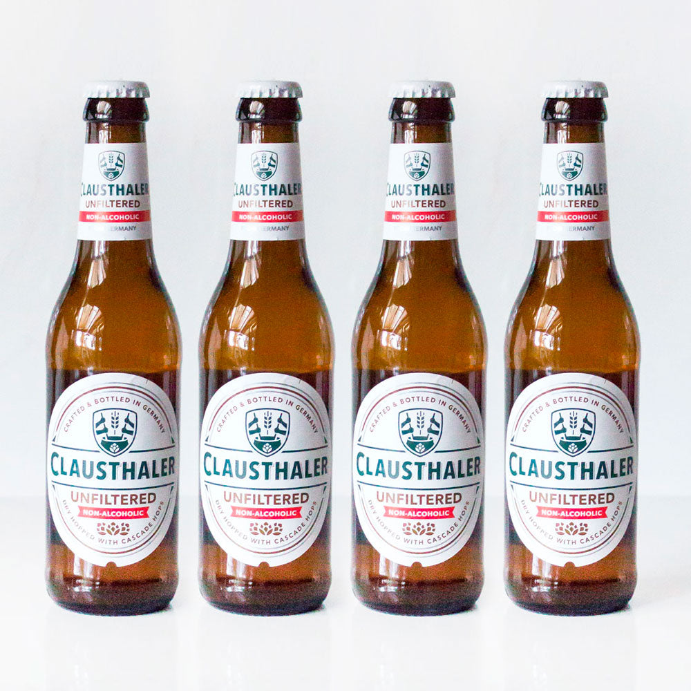 4-Pack Botellas 330 cc Cerveza Sin Alcohol Clausthaler Sin Filtrar