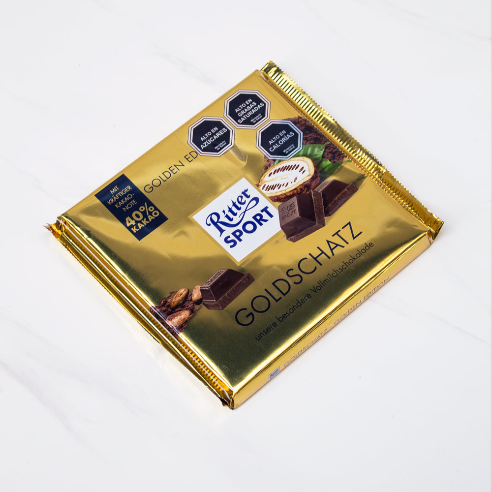 Chocolate de leche Golden Ritter Sport 250 gr