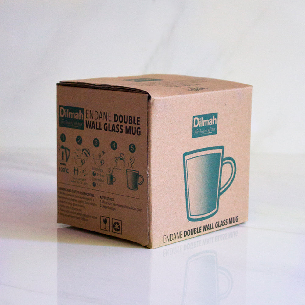 Vaso doble vidrio Mug Dilmah 180 ml