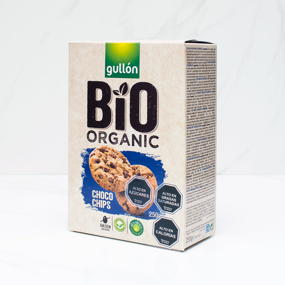 Galleta choco chip bio organic Gullón 250 gr
