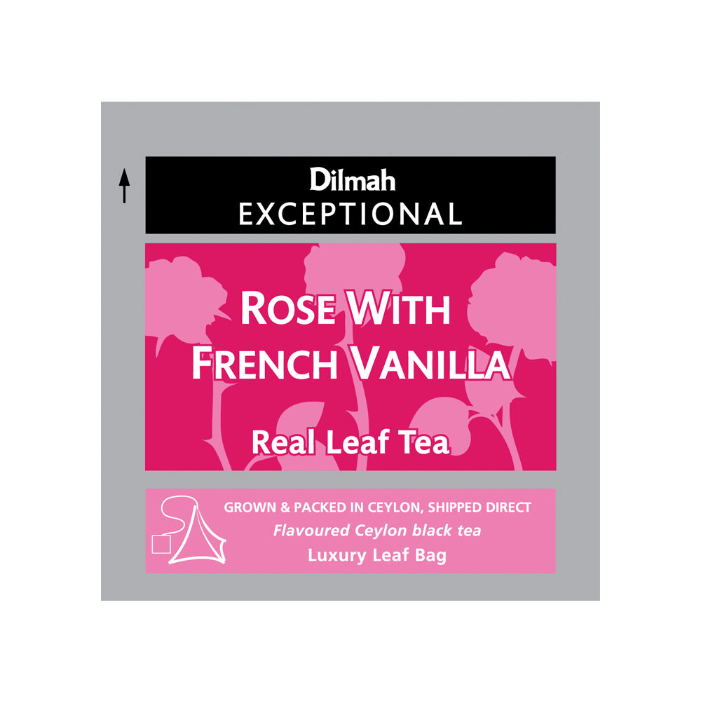 50 bolsitas Té Negro Rose French Vanilla Exceptional