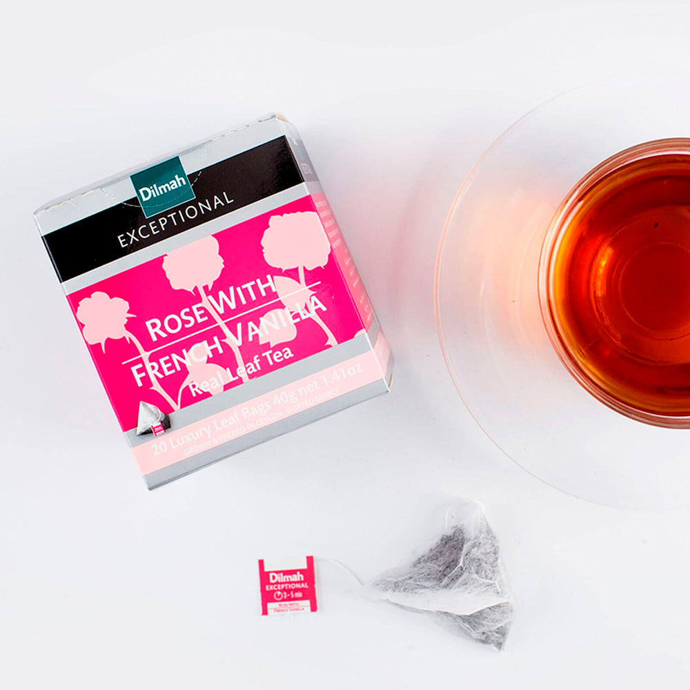 20 bolsitas Té Negro Rose French Vanilla Exceptional
