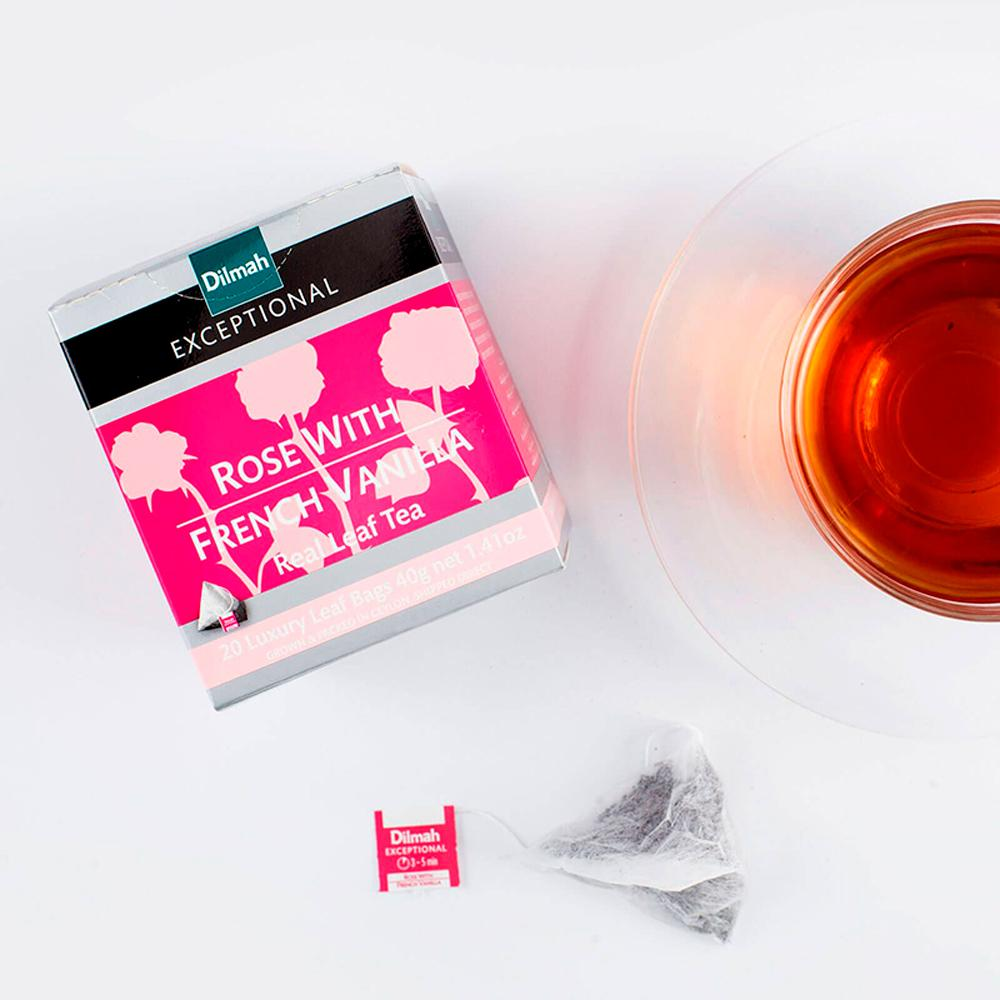 120 bolsitas Té Negro Rose French Vanilla Exceptional