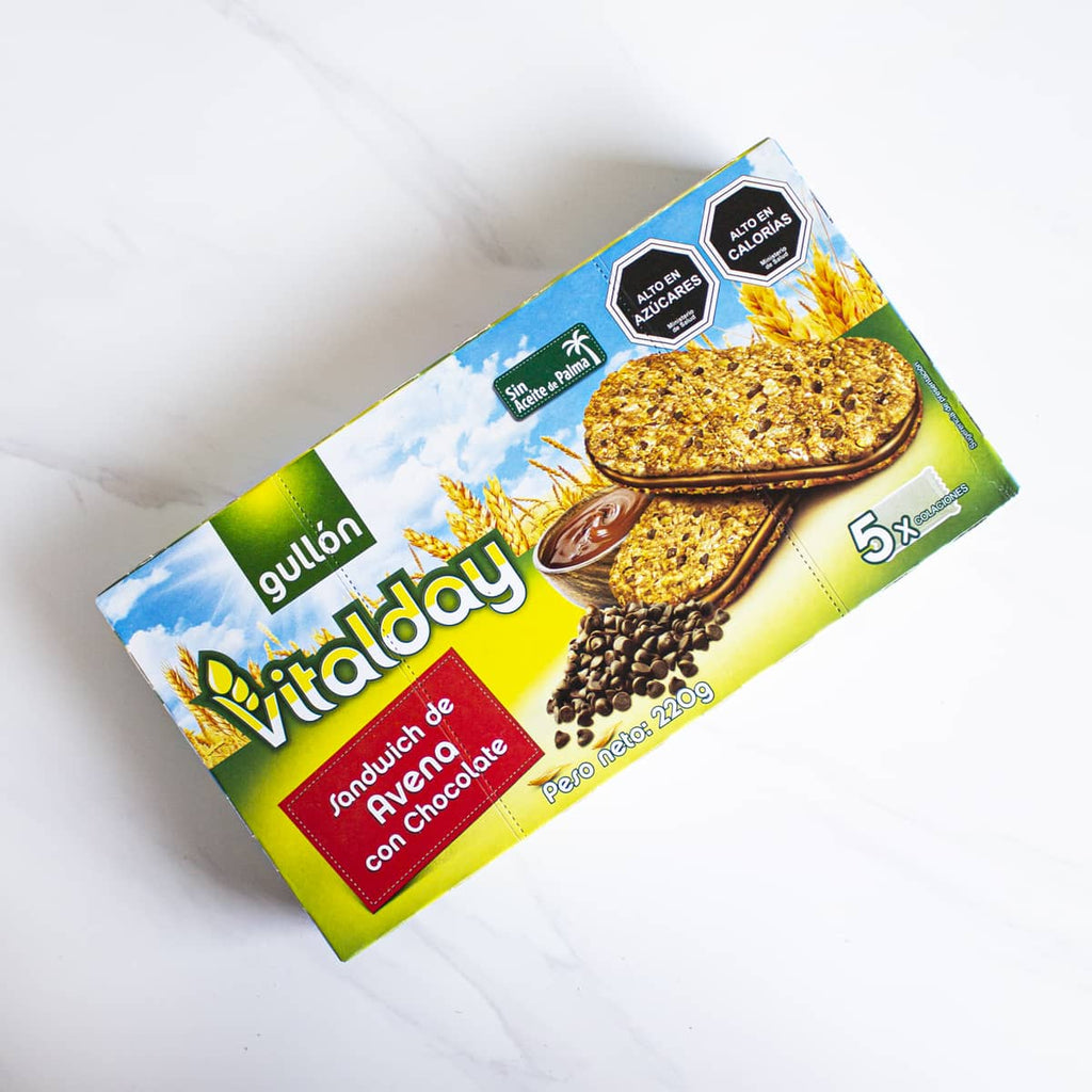 Galleta Vitalday Cereal Sandwich Avena con Chocolate Gullón 220 gr