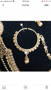 Traditional gold 8 piece Indian bridal jewellery
