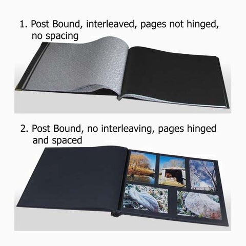 Comparison of post bound dry mount photo albums