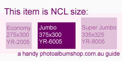 NCL Jumbo size from The Photo Album Shop