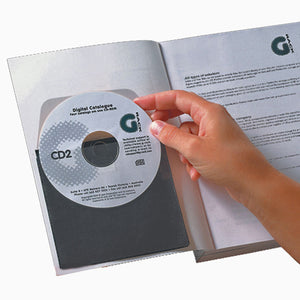 3L 1620 CD DVD self adhesive disc pockets with protective black inlay