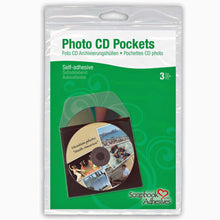 3l CD DVD pockets pack of three self-adhesive polyproplye disc pockets 1620
