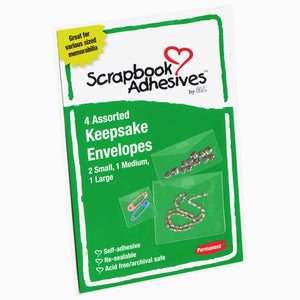3L Assorted Keepsake Envelopes (pack of 4)