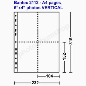 Bantex 2112 photo sleeves 10x15cm vertical pockets (10)