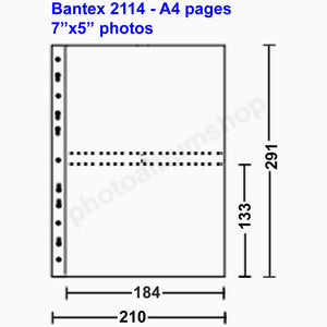 Bantex 2114 photo sleeves 13x18cm pockets clear (10)