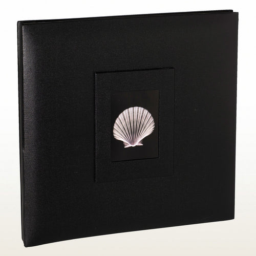 301332SBL Coral Coast Black Buckram 12x12 archival scrapbook photo album from The Photo Album Shop
