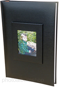 Black Buckram 6x4 slip-in 300 photo album 3013G8BL