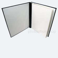 Open Black Buckram scrapbook album from The Photo Album Shop