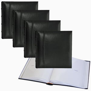 4 x Glorious Leather 6x4 slip-in 200 archival photo albums * FOUR-PACK