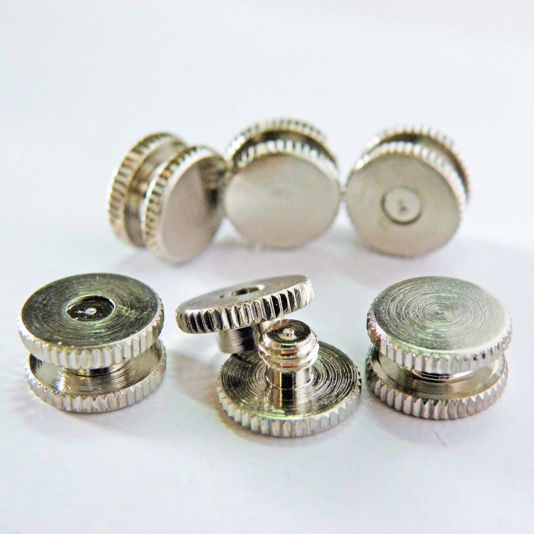 Chrome nickel-plated silver 2mm pass through Chicago Post and Screws for bookbinding and leatherwork from The Photo Album Shop