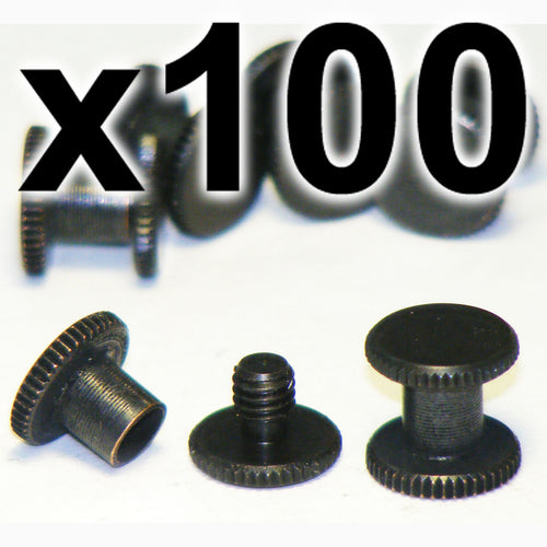 BULK PACK of 100 x Black Chicago interscrews post and screw set, 5mm (100 PACK)