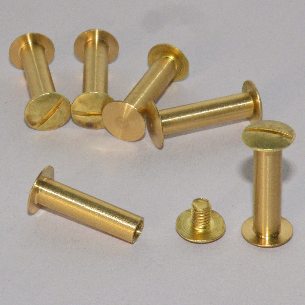20mm brass metal domed head interscrews.