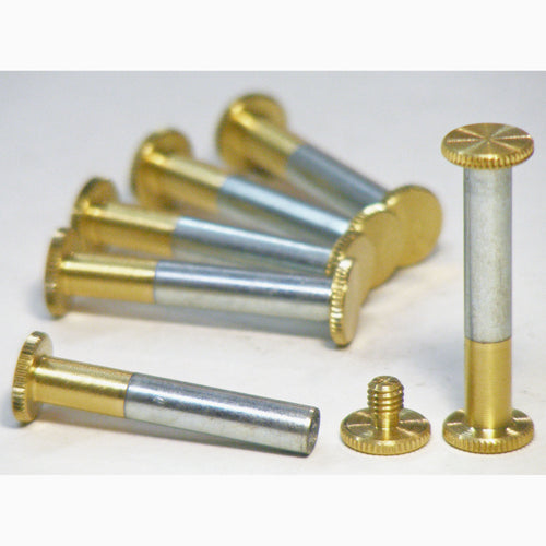 Brass Chicago interscrews post and screw set 30mm (pack of 6)