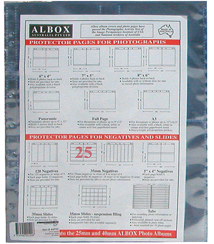 Albox archival 35mm negative 4-frame strip sleeves (25)