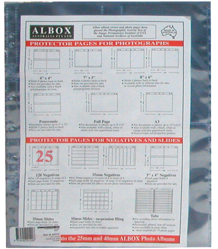 Albox archival 120 negative 3-frame strip sleeves (25)