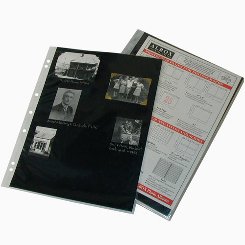 Albox archival 12x9 sleeves with black card inserts (10)