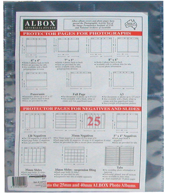 Albox archival 35mm negative 6-frame strip sleeves (25)