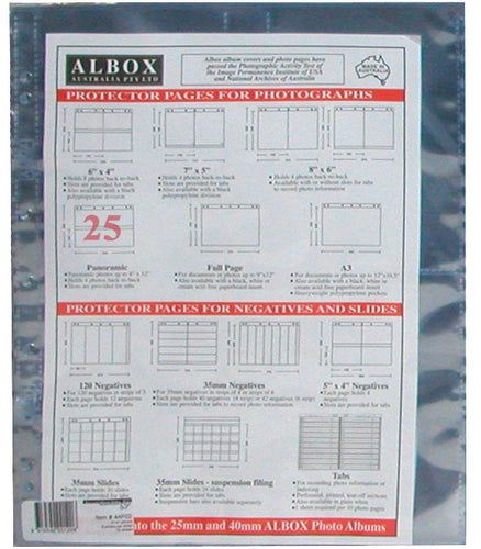 Albox archival 12x4 / 10x30cm panoramic photo sleeves (25)
