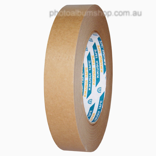 Kikusui 108H 24mm x 50m brown paper picture framing tape from The Photo Album Shop