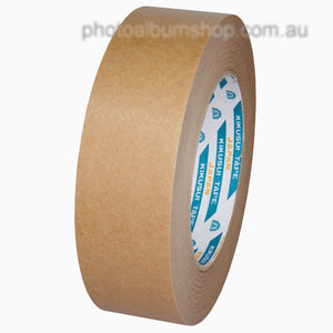 Kikusui 108H 36mm x 50m brown paper picture framing tape from The Photo Album Shop