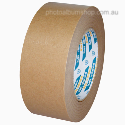Kikusui 108H 48mm x 50m brown paper picture framing tape from The Photo Album Shop