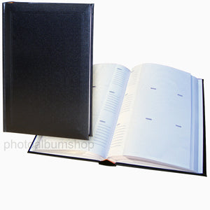 Ascot 6x4 slip-in 300 photo album in black 50002 from The Photo Album Shop