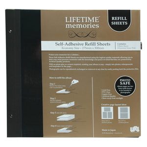 NCL Lifetime Memories self-adhesive economy refills 62780 from The Photo Album Shop