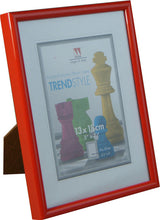 TrendStyle 7x5 photo frame in red from The Photo Album Shop
