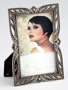 Maxine art deco metal photo frame 10x15cm / 6x4""